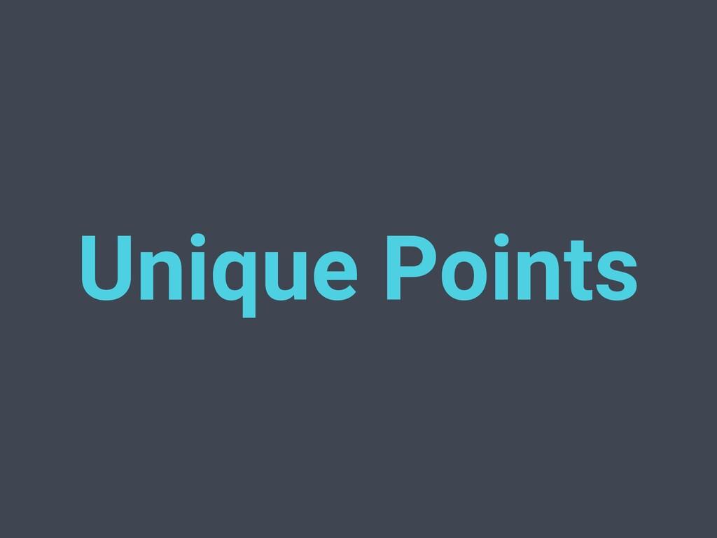 Unique Points