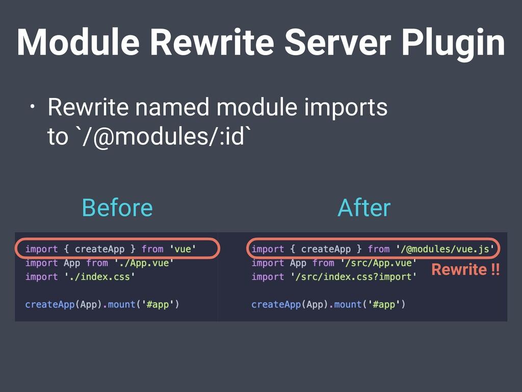Module Rewrite Server Plugin • Rewrite named mo...