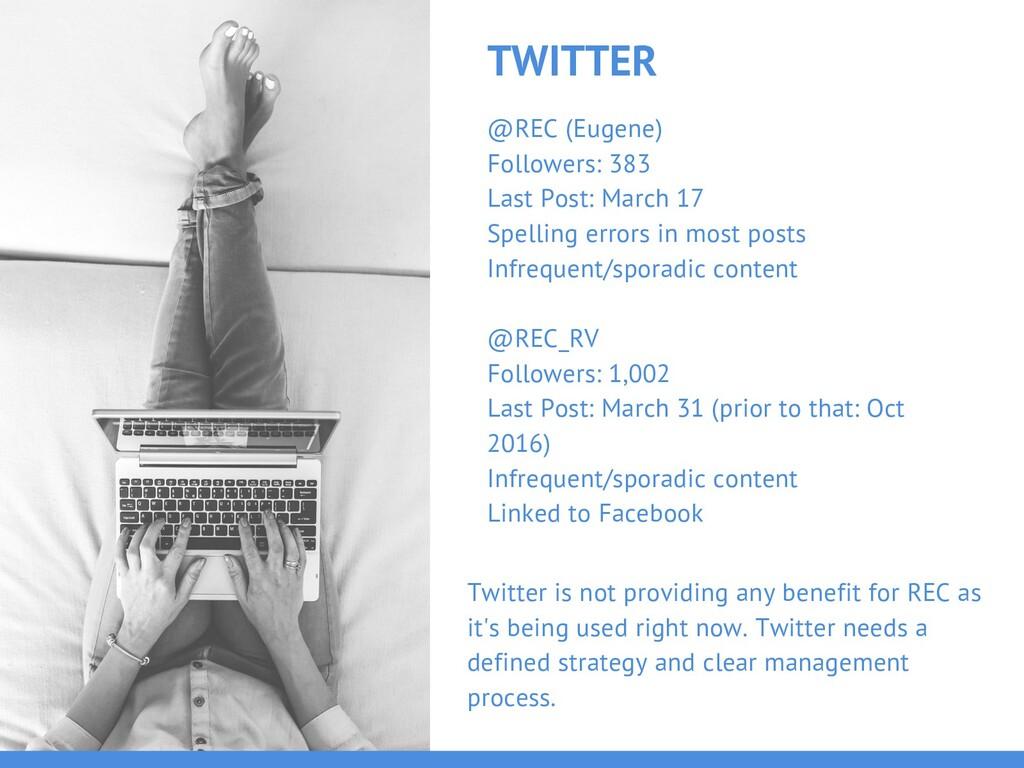 TWITTER @REC (Eugene) Followers: 383 Last Post:...