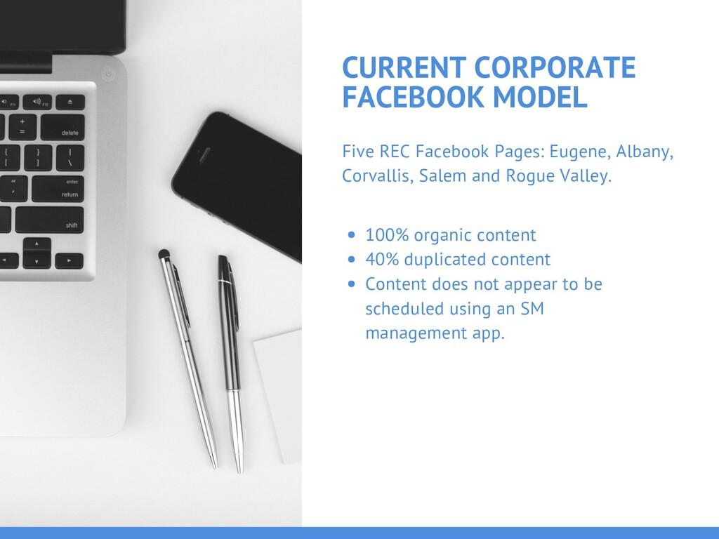 CURRENT CORPORATE FACEBOOK MODEL Five REC Faceb...