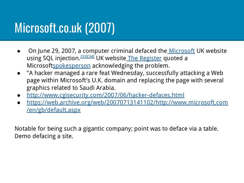 Microsoft.co.uk (2007) ● On June 29, 2007, a co...