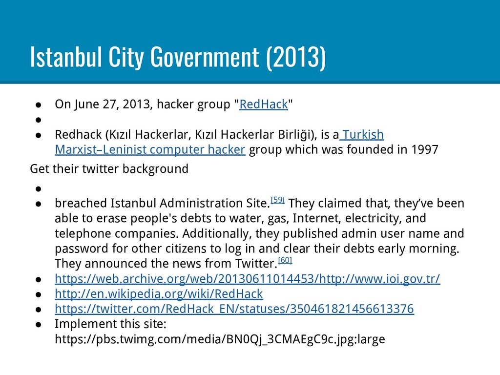 Istanbul City Government (2013) ● On June 27, 2...