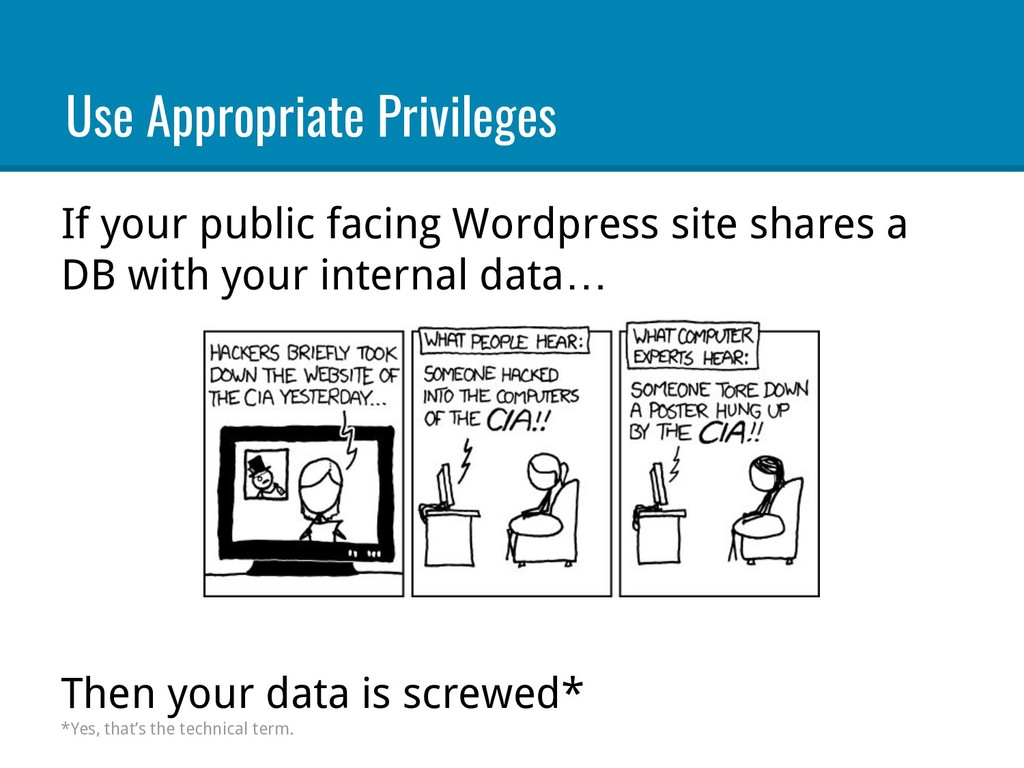 If your public facing Wordpress site shares a D...