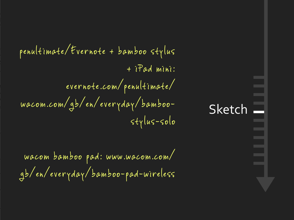 Sketch penultimate/Evernote + bamboo stylus + i...