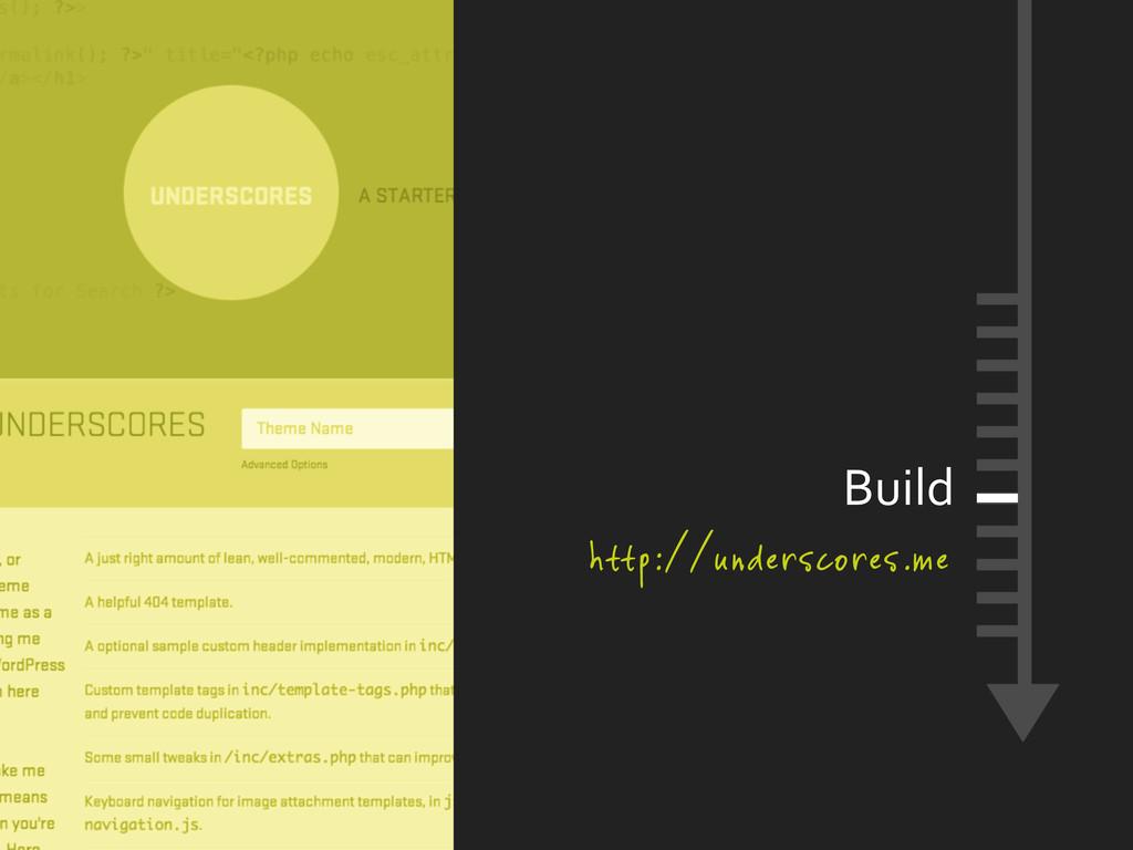 Build http://underscores.me