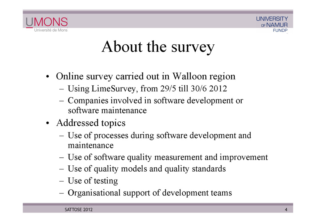 About the survey •  Online survey carried out i...