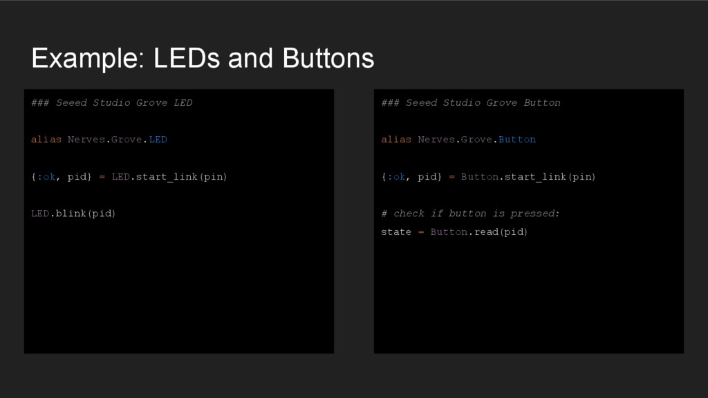 Example: LEDs and Buttons ### Seeed Studio Grov...