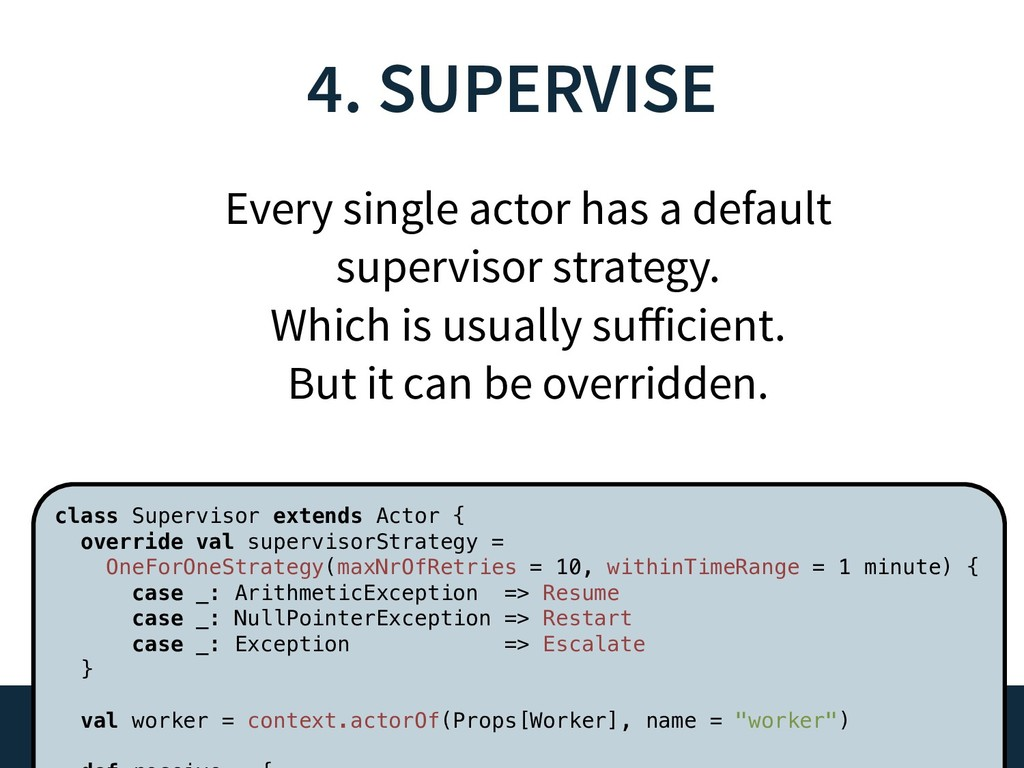 4. SUPERVISE 29 Every single actor has a defaul...