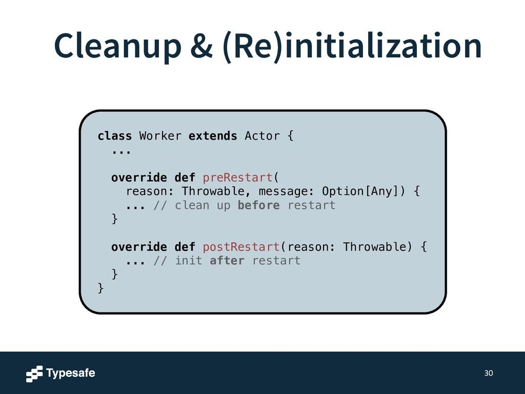 Cleanup & (Re)initialization 30 class Worker ex...