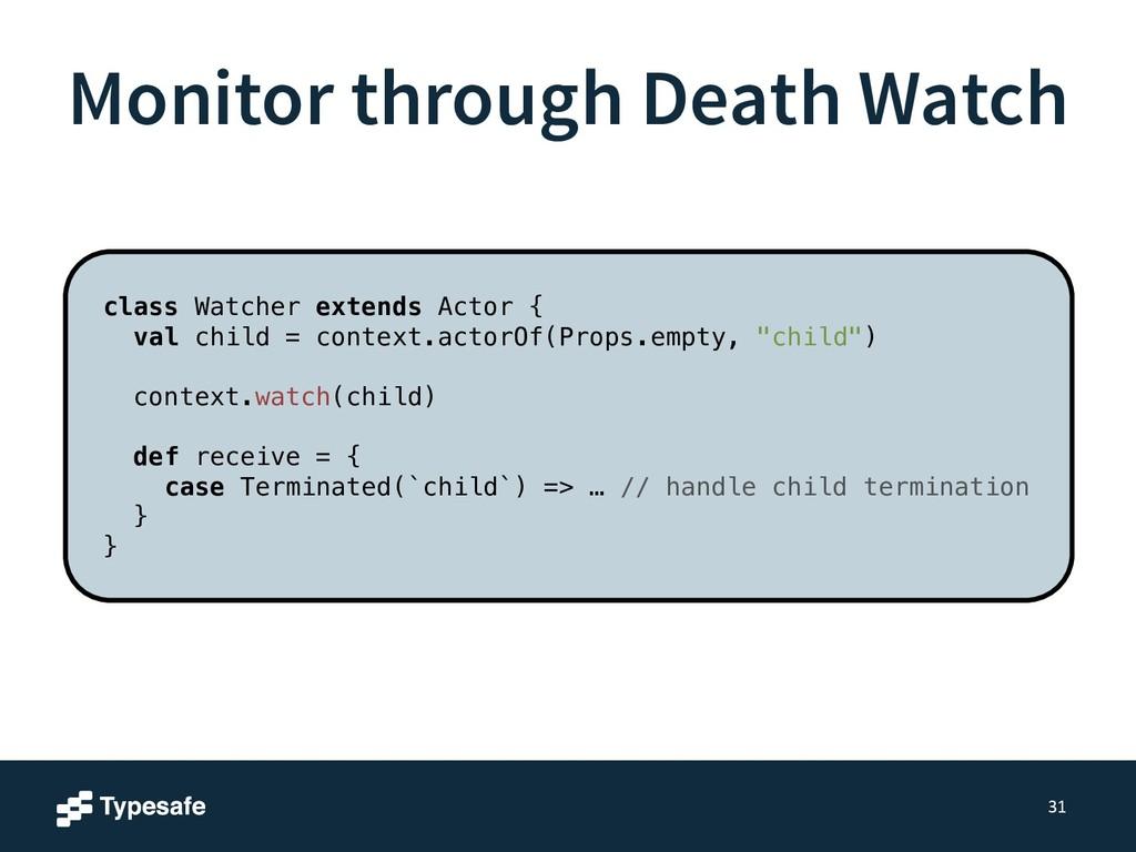 Monitor through Death Watch 31 class Watcher ex...