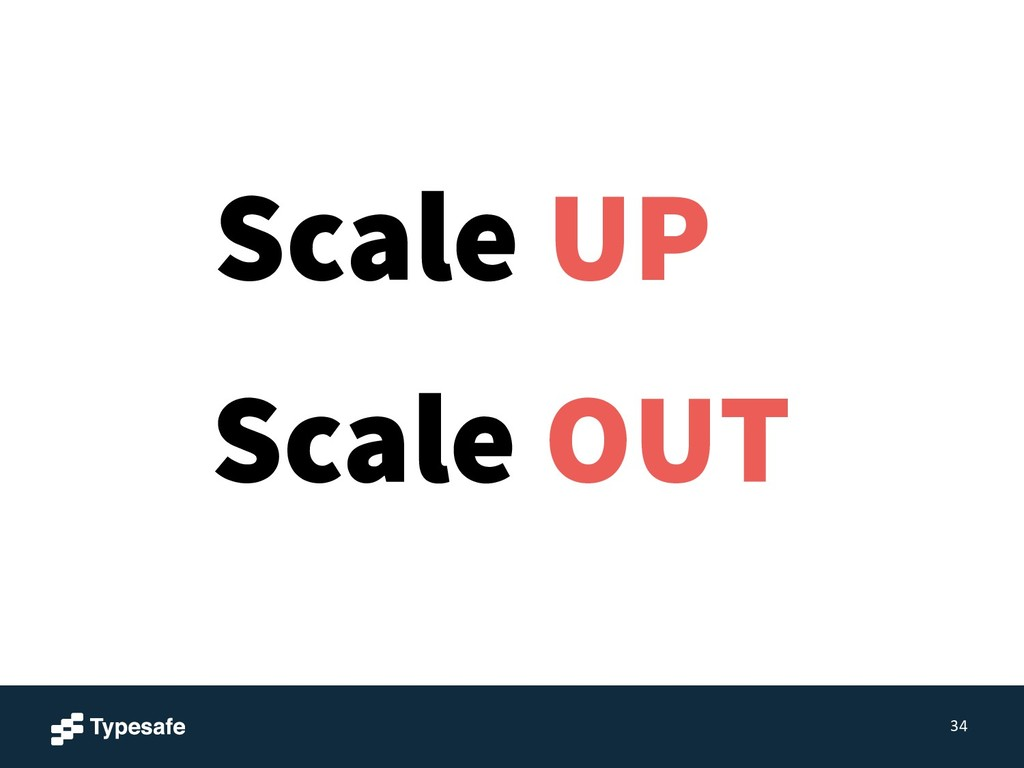 34 Scale OUT Scale UP
