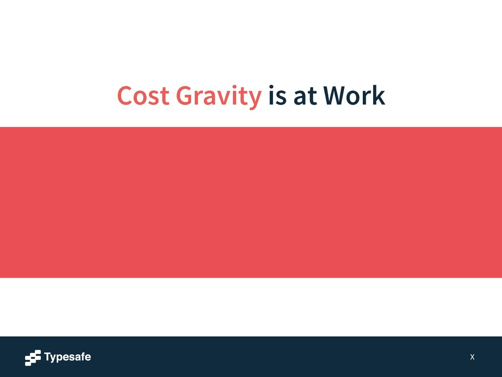 Cost Gravity is at Work X