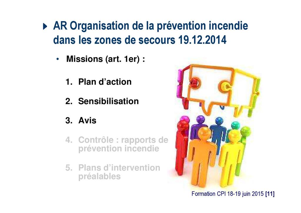 AR Organisation de la prévention incendie dans ...