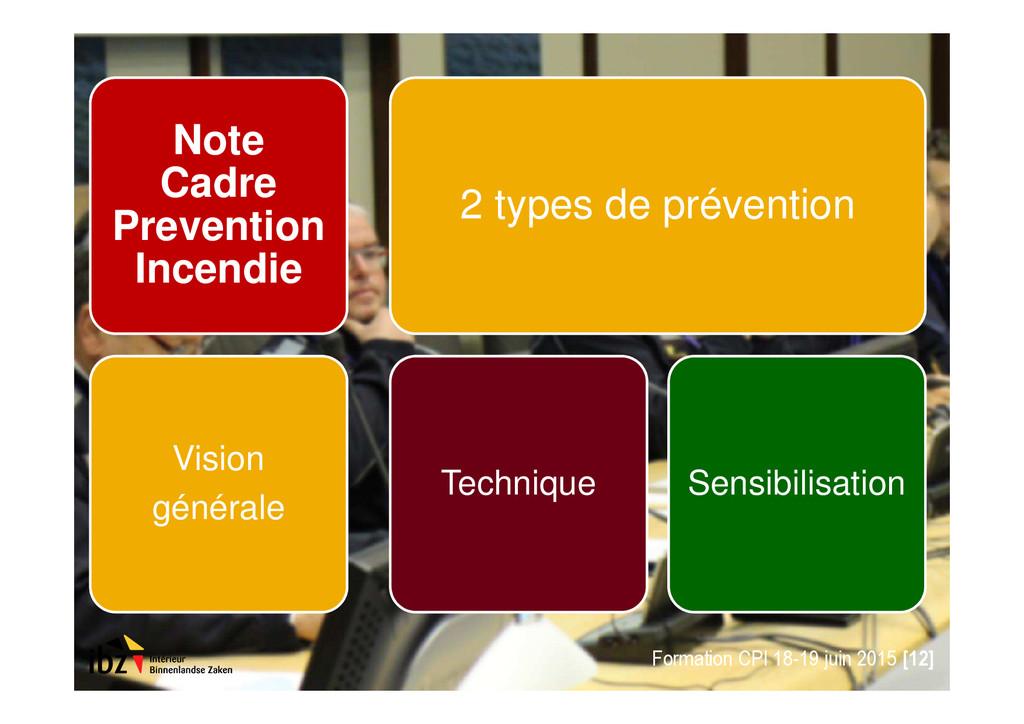 Note Cadre Prevention Incendie Vision générale ...