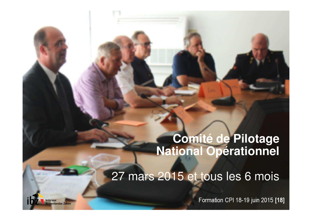 Comité de Pilotage National Opérationnel 27 mar...