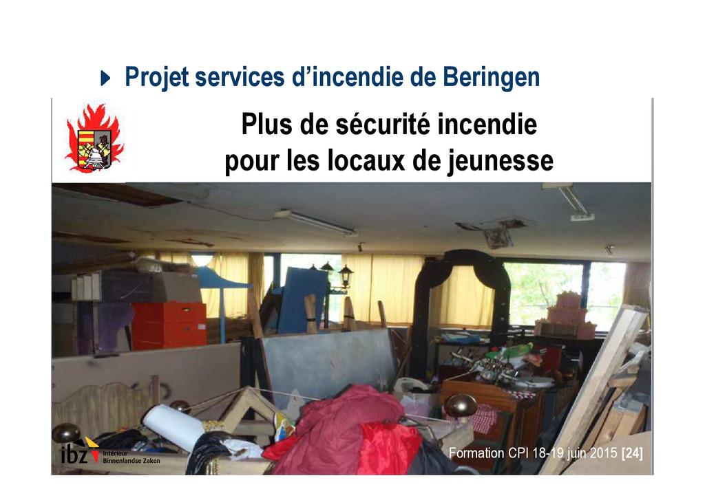 Projet services d'incendie de Beringen Formatio...