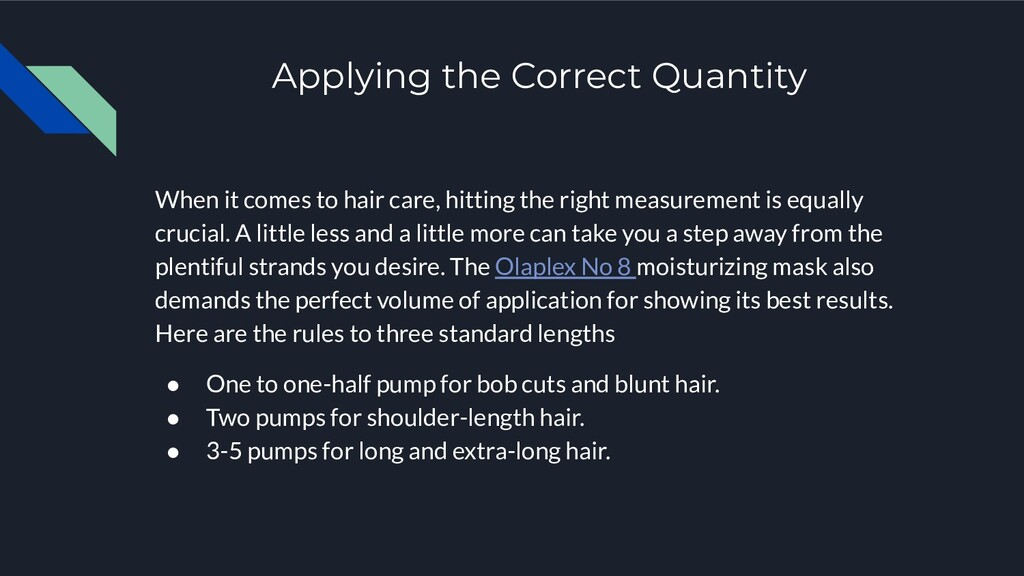 Applying the Correct Quantity When it comes to ...