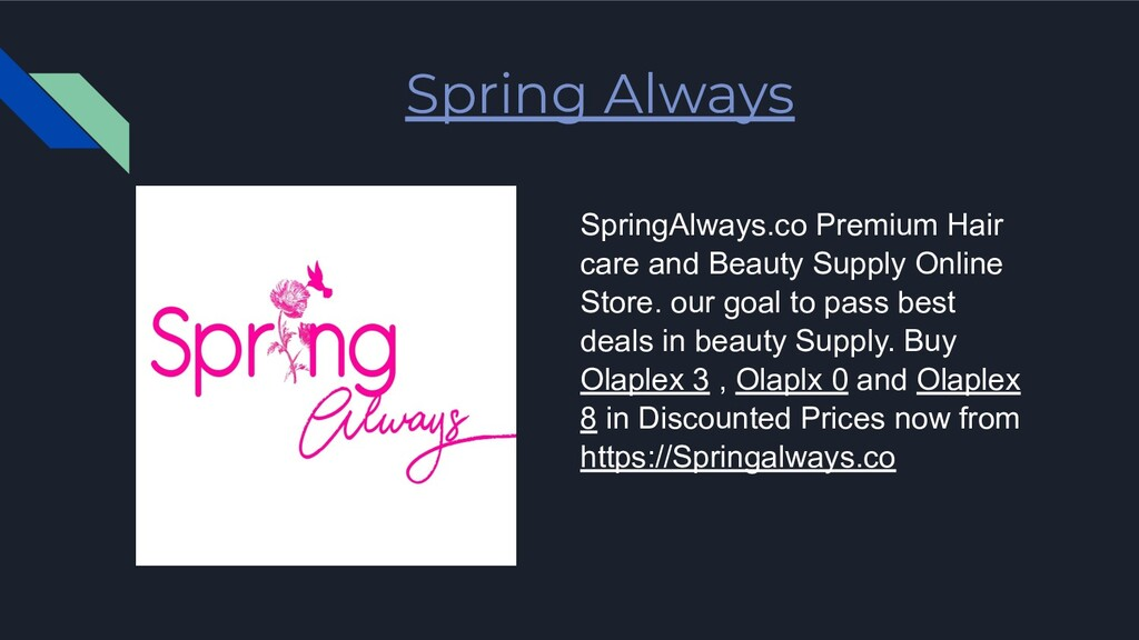 Spring Always SpringAlways.co Premium Hair care...