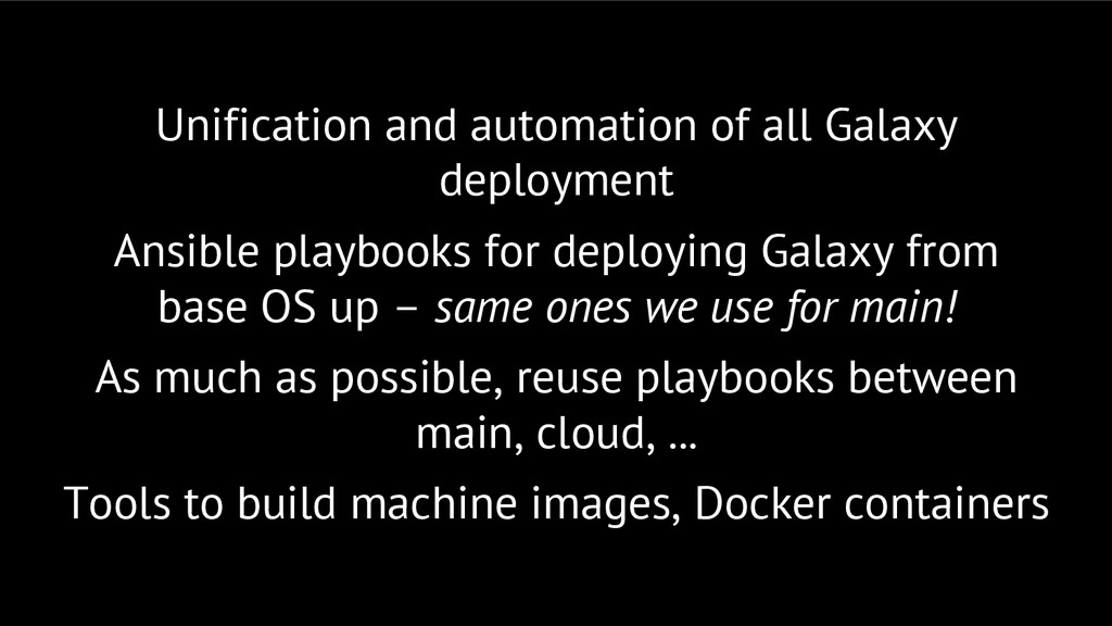 Unification and automation of all Galaxy deploy...