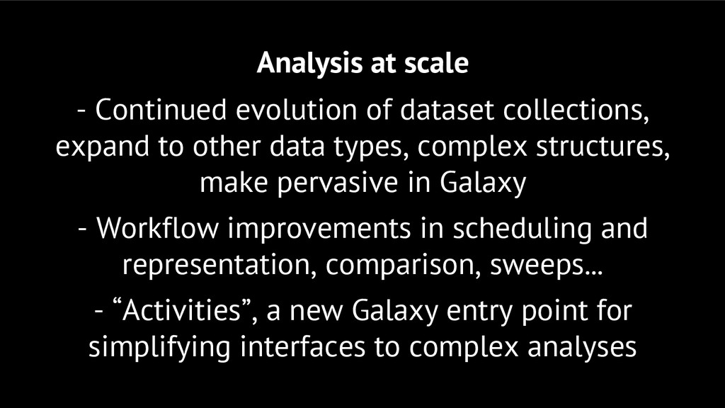 Analysis at scale - Continued evolution of data...