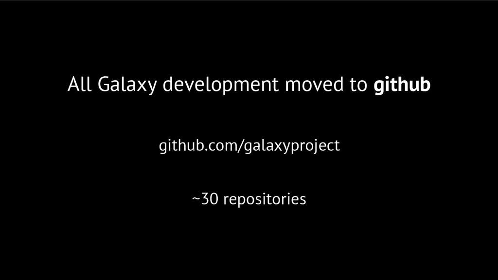 All Galaxy development moved to github github.c...