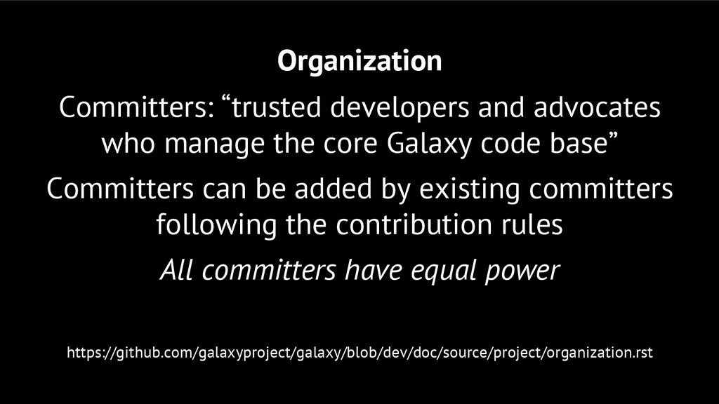 """Organization Committers: """"trusted developers an..."""