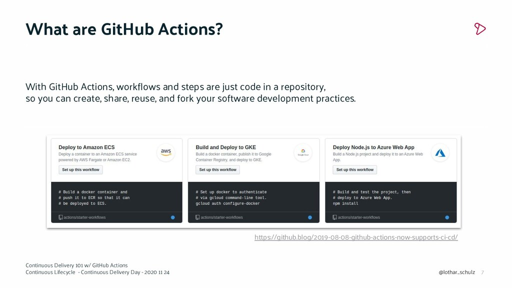 7 Continuous Delivery 101 w/ GitHub Actions Con...