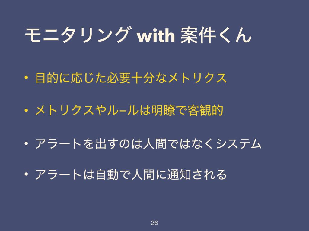 ϞχλϦϯά with Ҋ݅͘Μ • తʹԠͨ͡ඞཁेͳϝτϦΫε • ϝτϦΫεϧ−ϧ...