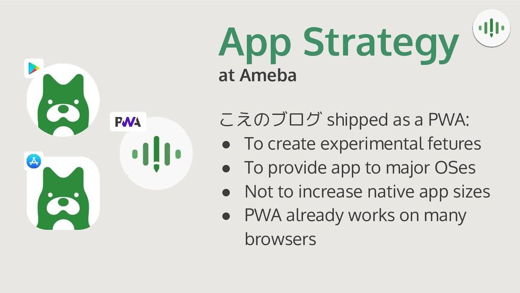 App Strategy at Ameba こえのブログ shipped as a PWA: ...