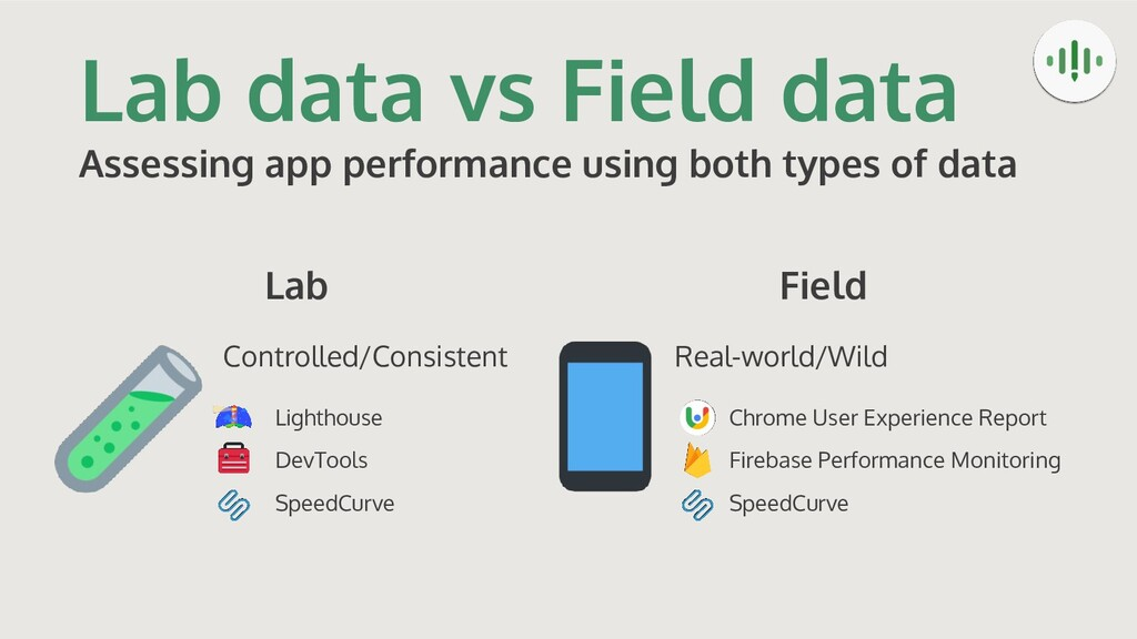 Lab data vs Field data Assessing app performanc...