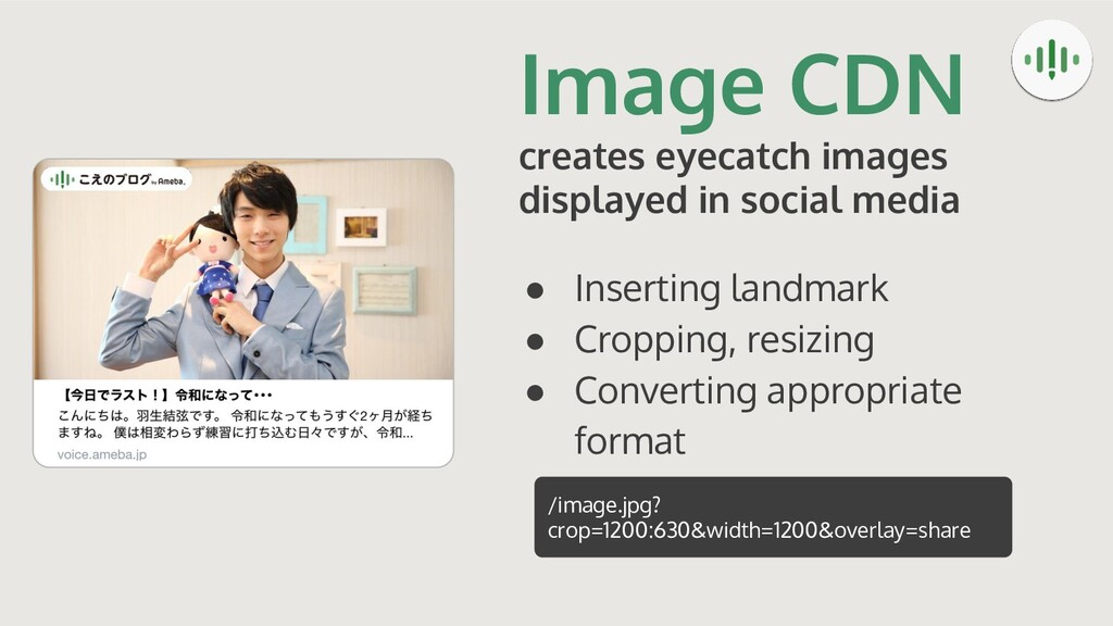 Image CDN creates eyecatch images displayed in ...