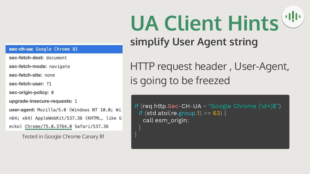 UA Client Hints simplify User Agent string HTTP...
