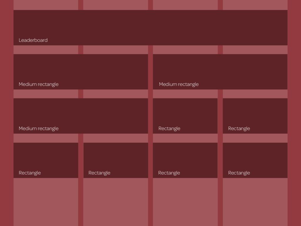 Leaderboard Medium rectangle Medium rectangle M...
