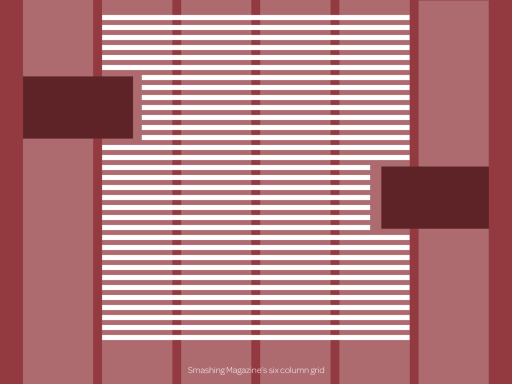 Smashing Magazine's six column grid