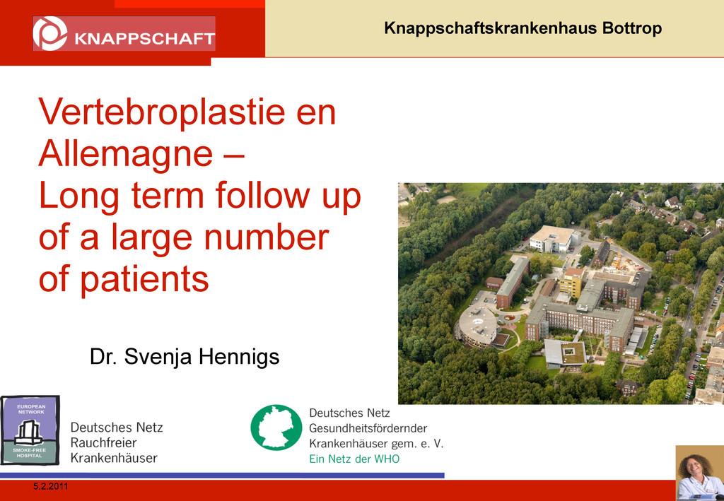 5.2.2011 Knappschaftskrankenhaus Bottrop Verteb...