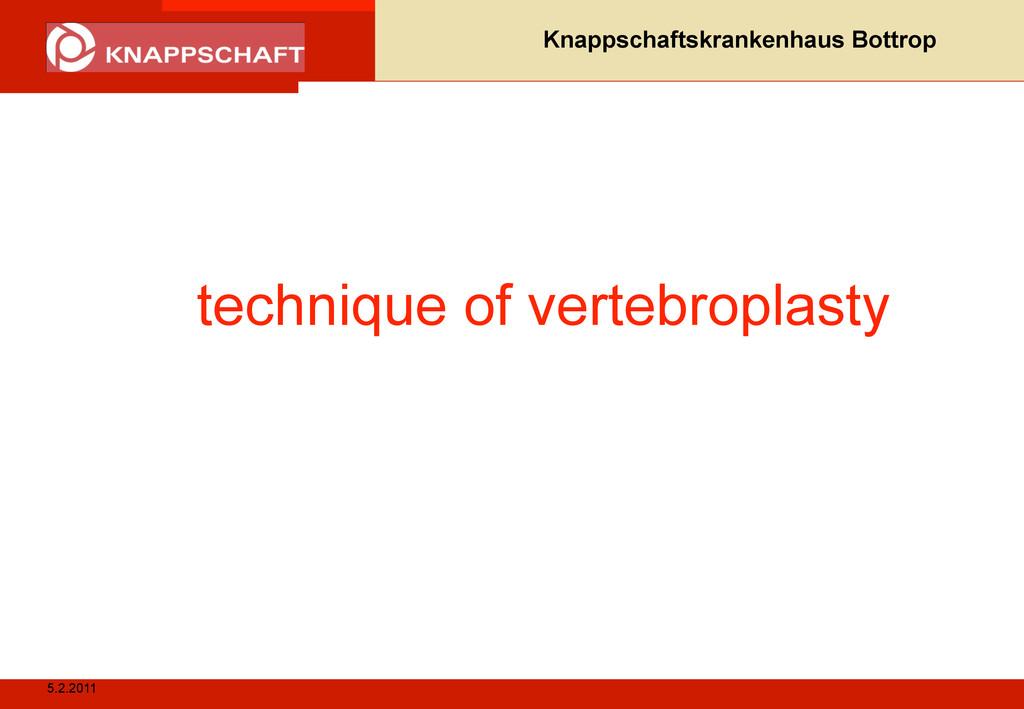 5.2.2011 Knappschaftskrankenhaus Bottrop techni...