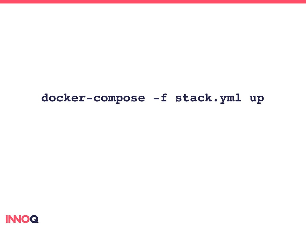 docker­compose ­f stack.yml up