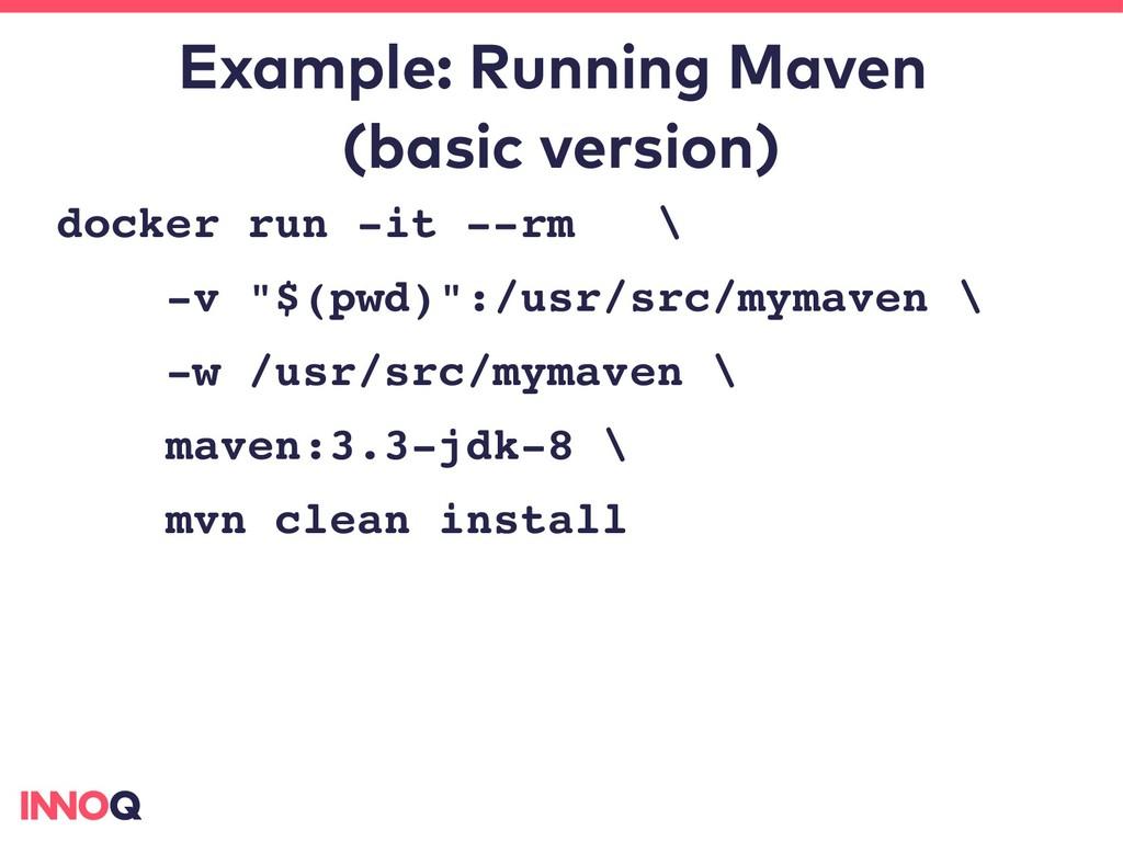 Example: Running Maven (basic version) docker r...