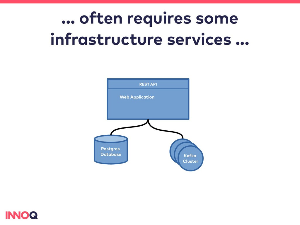 … often requires some infrastructure services ....