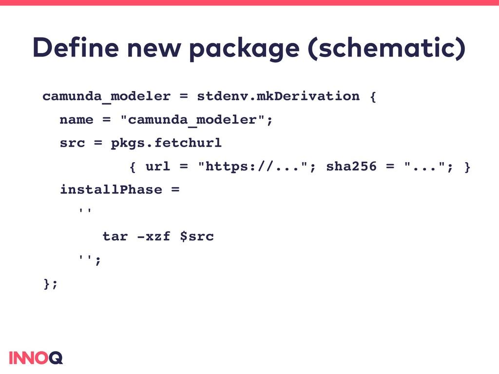 Define new package (schematic) camunda_modeler ...