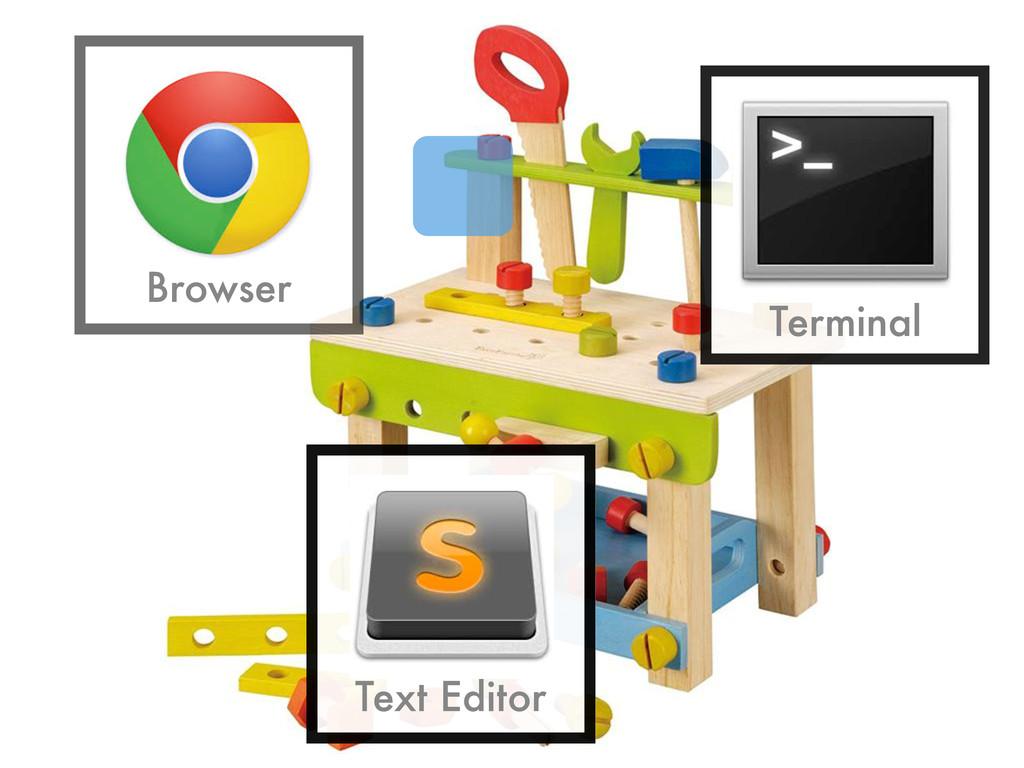 Browser Terminal Text Editor
