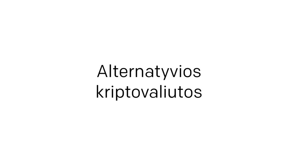 Alternatyvios