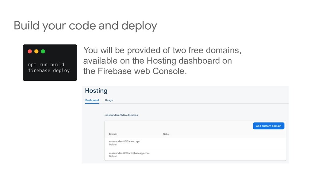 Build your code and deploy You will be provided...