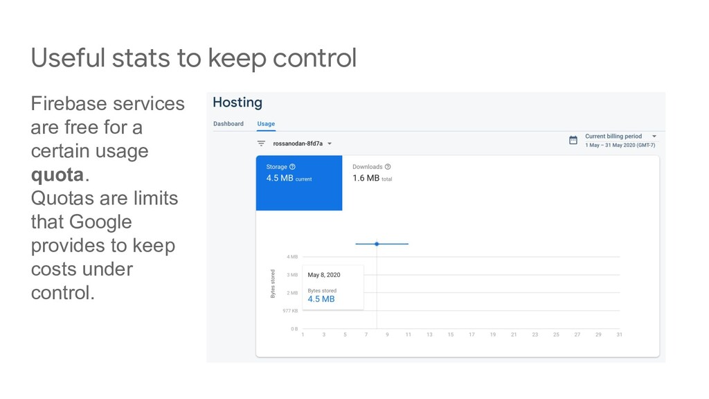 Useful stats to keep control Firebase services ...