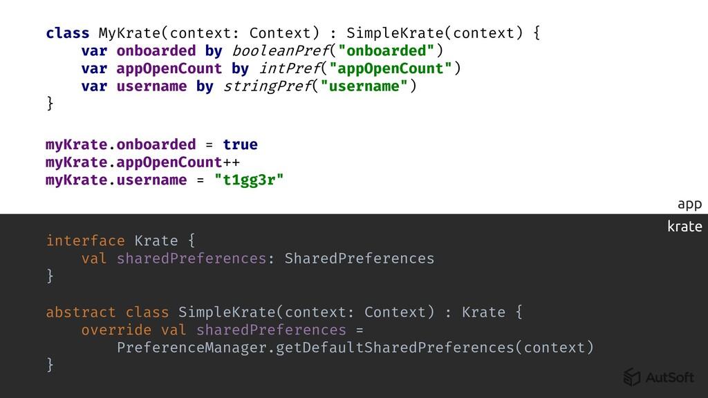 app krate class MyKrate(context: Context) : Sim...
