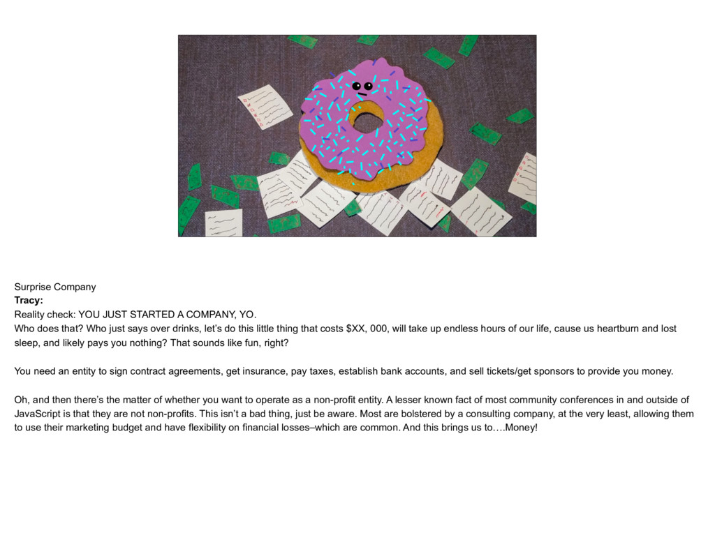 placeholder The Donut Tracy, on a pile of paper...