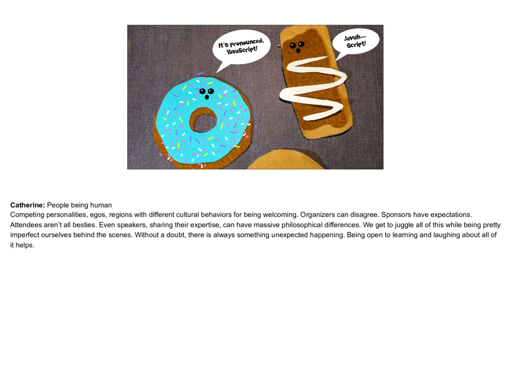 placeholder Donuts arguing about how to pronoun...
