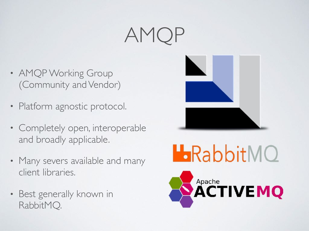 AMQP • AMQP Working Group (Community and Vendor...