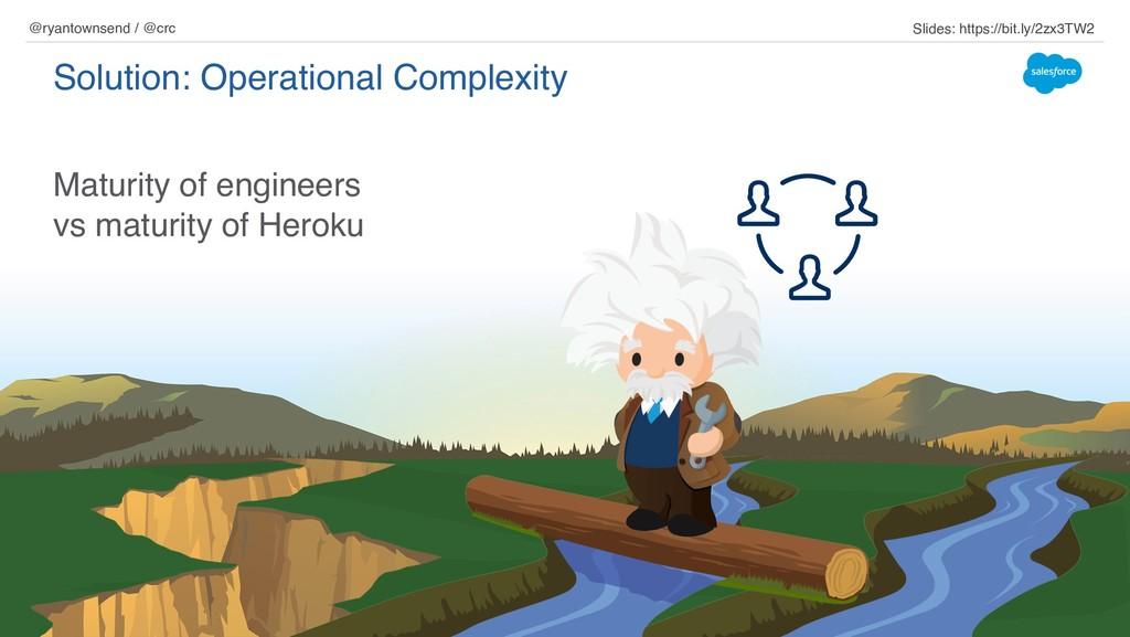 Maturity of engineers vs maturity of Heroku Sol...
