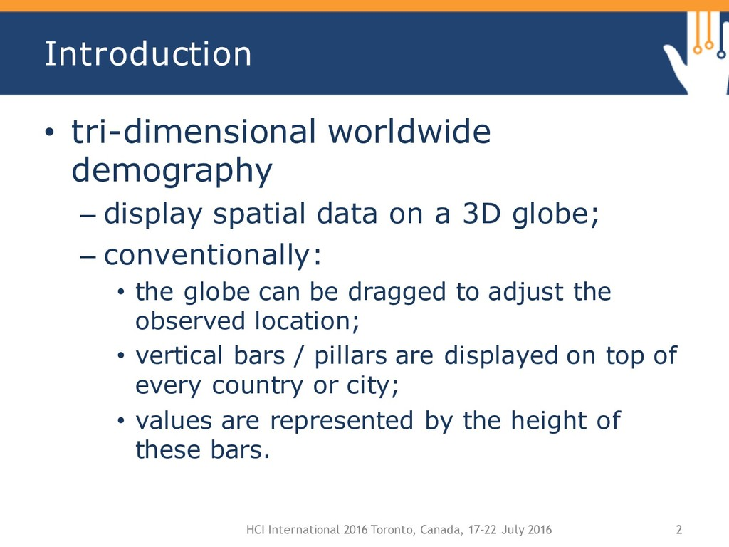 Introduction • tri-dimensional worldwide demogr...